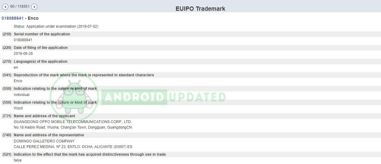 Oppo Enco new trademarked lineup coming soon 1